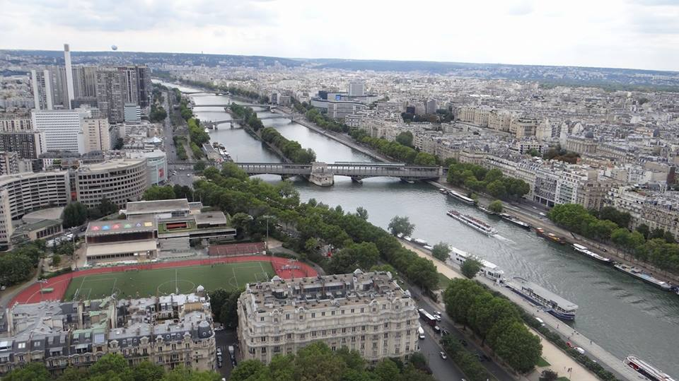 Panoramic view from Eiffel Tower