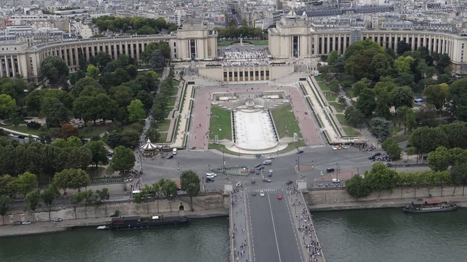 Panoramic view from Eiffel Tower A behemoth structure
