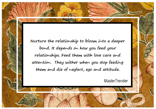 feed your relationships