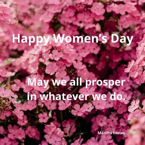 A voice to be heard and listened to.Happy women's Day