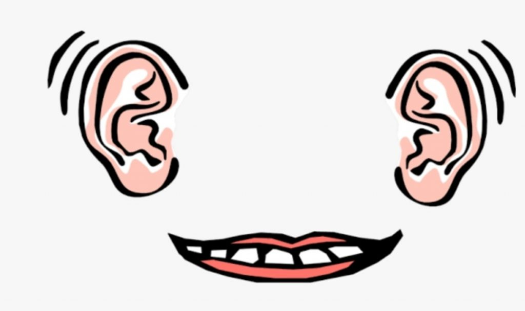 Ears and mouth should be used proportionally, so we ought to listen more and speak less.